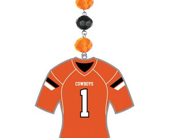 Oklahoma State University *Football Jersey* Magnetic Ornament,Osu Cowboys,Osu,Osu Ornament,Osu Pistol Pete,Osu Cowboys,OSU decor