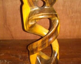 Guayacan wood lignum vitae Figure of kissing people handmade
