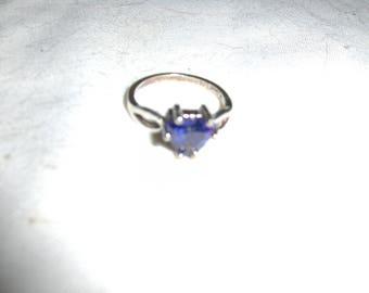 Tanzanite 8mm heart shaped ring