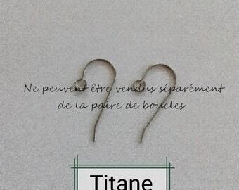 titanium, titanium hook, I DO NOT SELL hooks I adapt them simply, allergy, hypo-allergenic