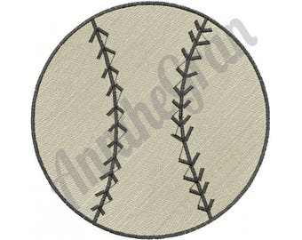 Plain Softball - Machine Embroidery Design