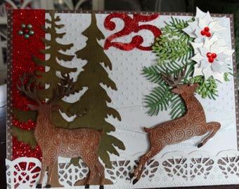 Deer Winter Scene Christmas Card