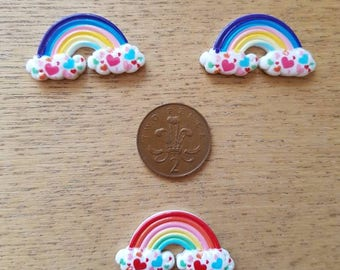 Set of 3 rainbow flat backs