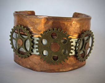 Copper Steampunk Cuff