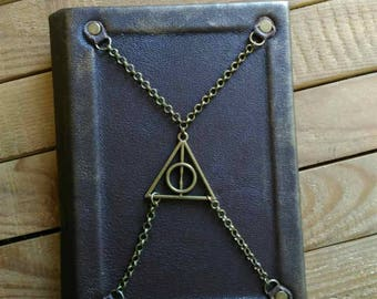 """Leather notebook """"Tales of Bard Beadle"""" -  Handmade!"""