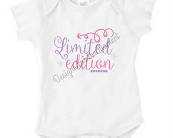 Limited Edition Baby One Piece Body Suit- Bodysuit - Baby Shower