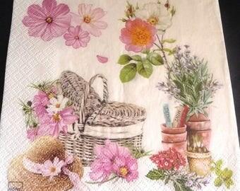 The garden of flowers 2 paper towel