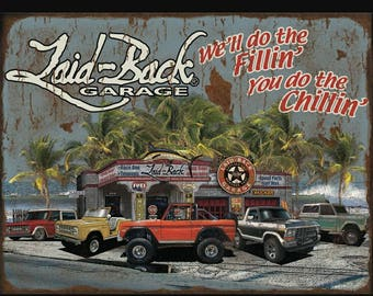 Dream Garage Bronco-18x24 Metal Sign