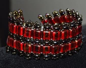 Tile Beads Bracelt