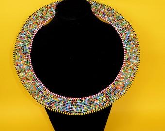 Multi-colored Circular Neck Piece