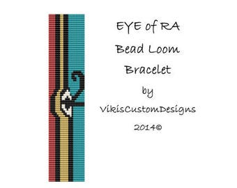 Eye of RA Bead Loom Bracelet Pattern by VikisCustomDesigns