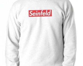Seinfeld Supreme Red Box Logo Crew Neck Unisex Sweatshirt