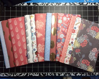 2x Travelers Notebook Midori Standard TN Inserts - Bohemian - 2 Blank Notebooks + 1 Folder + 1 Elastic Expansion Band