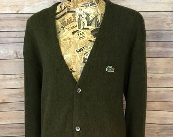 Vintage Izod Lacoste Cardigan Button Up Sweater (L)