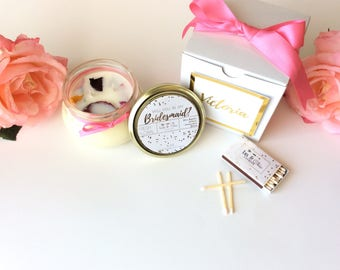 Will You Be My Bridesmaid Gift 8oz-Will You Be My Maid Of Honor Gift-Foil Print-Gold Foil-Rose Gold Foil- Bridesmaid Candle