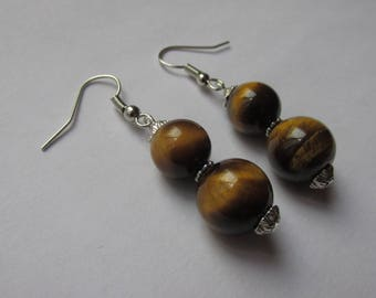 """Earrings Tiger eye """"Protection and serenity"""""""