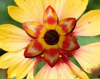 Flower, Wood flower, acrylic art, French made