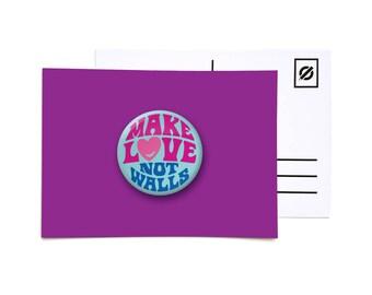 Make Love Not War - postcards