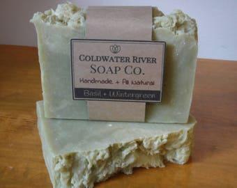 Basil + Wintergreen Natural Soap