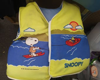 1965 snoopy lifevest kids size