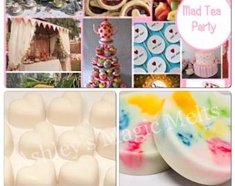 Mad tea party wax melts, bakery wax melts, sweet wax melts, cheap wax melts, strong wax melts, food wax melts, wax melt tarts, best wax