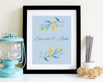 Printable anniversary/wedding gift, customized name