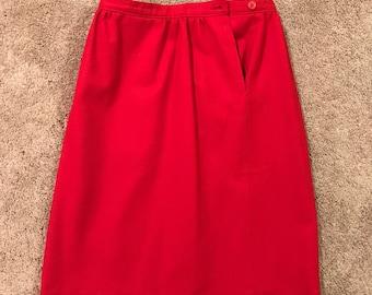 Vintage Size 10 Wool Red Pendleton Skirt