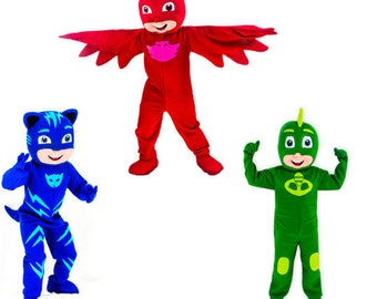 3 x PJ Masks Style Mascot Costumes