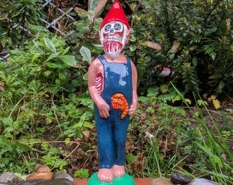 Skinny Herbert handmade zombie gnome by Peregrine Stormwright