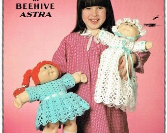 Patons 1035 - Crocheted Cabbage Patch Doll Clothes