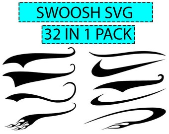 Swoosh SVG, Text Tails set of 32, Vector, Digital Cut File, Font tail, Text underline, Eps, Dxf, Png, Pdf  Ask a question