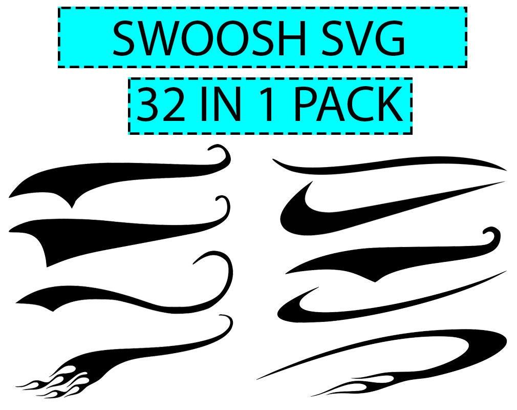 Swoosh SVG Text Tails Set Of 32 Vector Digital Cut File