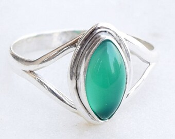 Green Onyx Ring, Green Stone Ring,Green Silver Ring, 925 Sterling Silver, Gemstone Ring, Green Ring, Green Onyx Jewellry