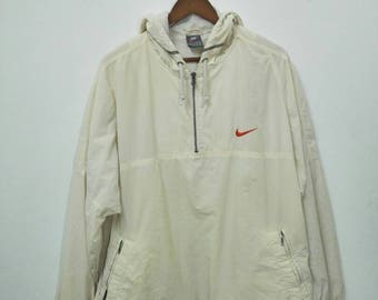 Vintage NIKE Windbreaker Jacket With Hoodies Nice Design