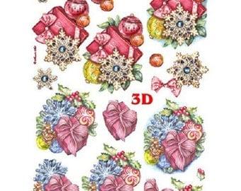 "pre-cut sheet for card making ""noel"" 3D"
