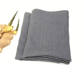 Linen Kitchen Towel. Grey linen dish towel. Linen tea towel. Linen hand towel. Pure linen kitchen towel.