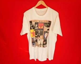 vintage Paul Weller indie mob band t shirt
