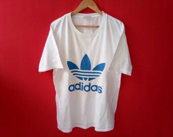 vintage adidas big logo large mens t shirt