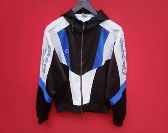vintage champion jacket fully zipper large mens size