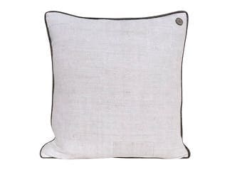 """Antique German Grain Sack Pillow from the 1800s  -  19"""" x 19"""""""