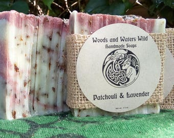 Patchouli and Lavender Handmade Soap | Natural Soap | Cold Process Soap