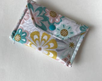 Floral Small Fabric Wallet