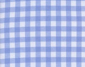 Cotton + Steel Checkers Woven Cotton Sky, White and Baby Blue Fabric, Picnic Table Fabric, Gingham Fabric, Half Inch, Summer, Pastel Blue