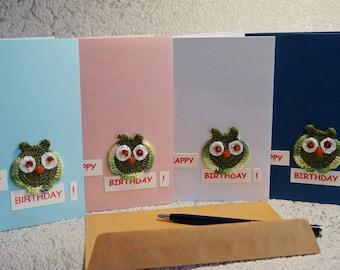 Birthday card set Greeting card Owl Birthday card girl Card|for|sister Woman Card|for|girlfriend Best friend card Owls Card|for|birthday