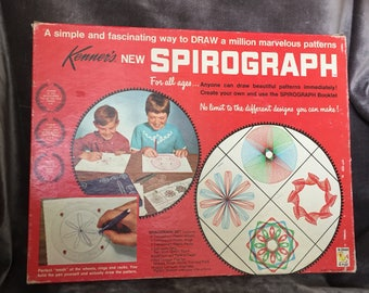 Vintage Spirograph drawing art toy set Kenner