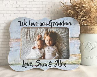 Personalized grandma frame, grandma frame, personalized gift, personalized grandma gift, grandmother frame from baby