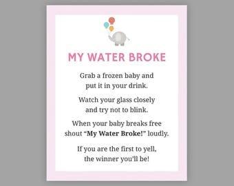 my water broke etsy