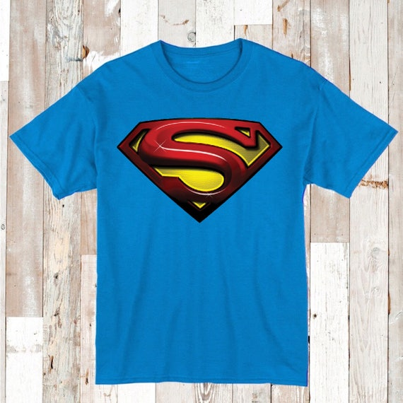 Superman tees superhero tee t shirt super man logo boys tee Boys superhero t shirts