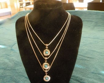 Three tiered necklace