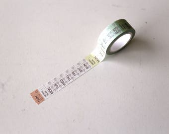 Monday to Suandy  Washi Tapes/ Week Washi Tape/Striped Washi / Masking tape/ japanese washi tape/Planner Supplies